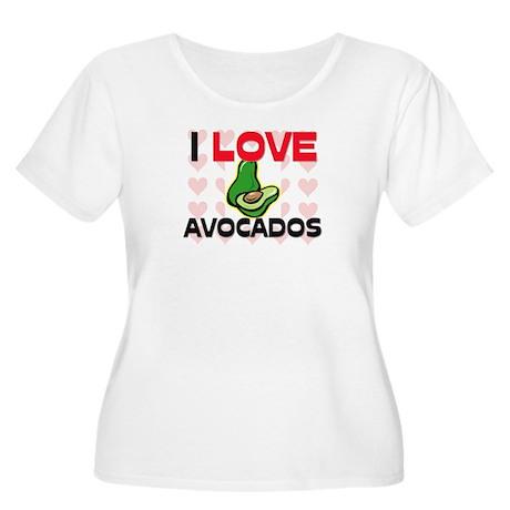 I Love Avocados Women's Plus Size Scoop Neck T-Shi