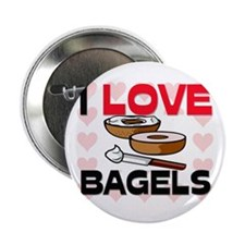 "I Love Bagels 2.25"" Button (10 pack)"
