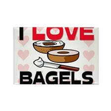 I Love Bagels Rectangle Magnet