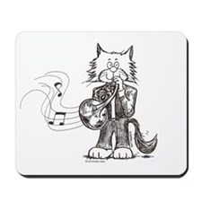French Horn Cat Mousepad