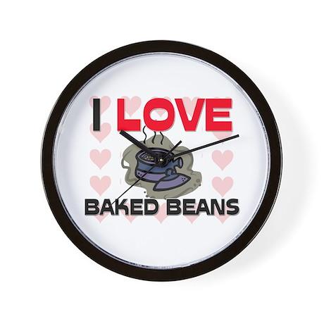 I Love Baked Beans Wall Clock
