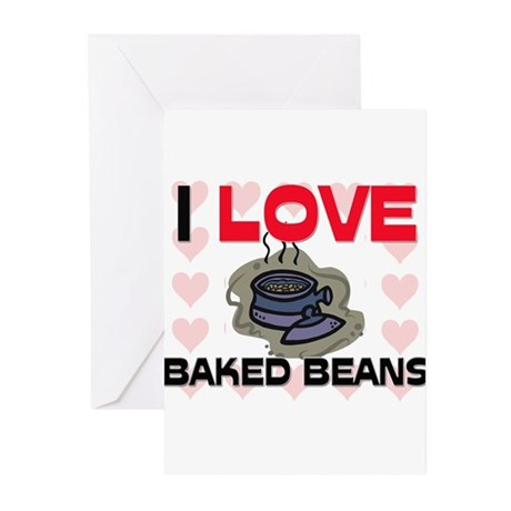 I Love Baked Beans Greeting Cards (Pk of 10)