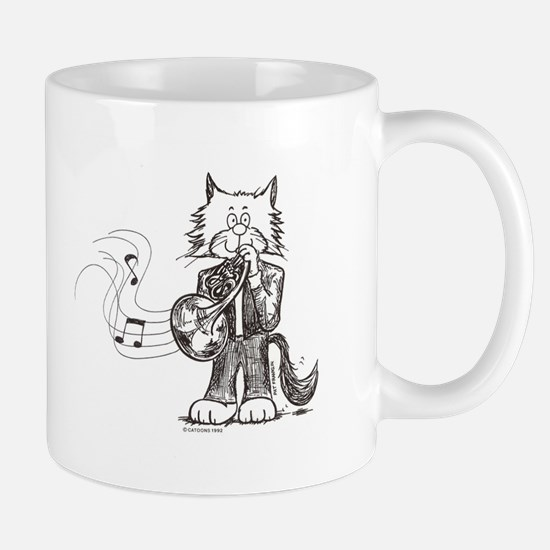 CatoonsT French Horn Cat Mug