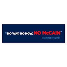 No McCain Bumper Bumper Bumper Sticker