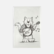 CatoonsT Banjo Cat Rectangle Magnet