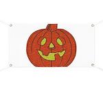 Grinning Halloween Pumpkin Banner