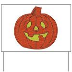 Grinning Halloween Pumpkin Yard Sign