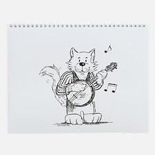 CatoonsT Banjo Cat Wall Calendar