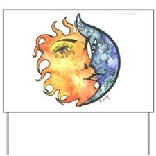Sun and moon Yard Sign