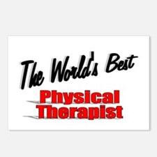 """The World's Best Physical Therapist"" Postcards (P"