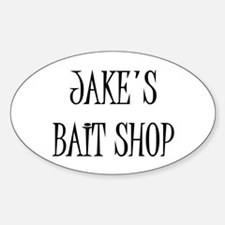 Jakes Bait Shop Oval Decal