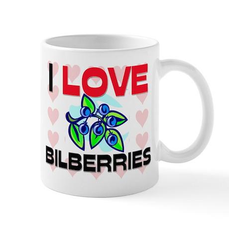 I Love Bilberries Mug