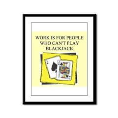 blackjack gifts t-shirts Framed Panel Print