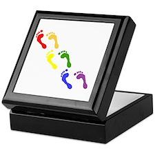 gay feet Keepsake Box
