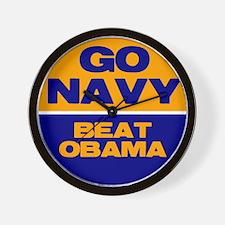 Go Navy Beat Obama Wall Clock
