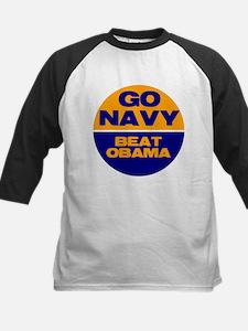 Go Navy Beat Obama Kids Baseball Jersey