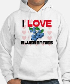 I Love Blueberries Hoodie
