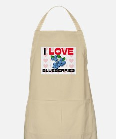 I Love Blueberries BBQ Apron