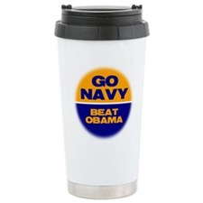 Go Navy Beat Obama Travel Mug