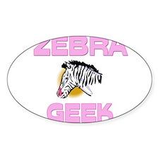 Zebra Geek Oval Decal