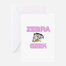 Zebra Geek Greeting Cards (Pk of 10)