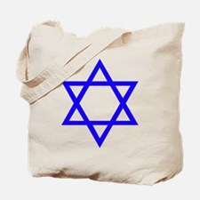 Blue Star of David Tote Bag