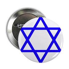 "Blue Star of David 2.25"" Button"