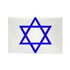 Blue Star of David Rectangle Magnet