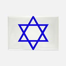 Blue Star of David Rectangle Magnet