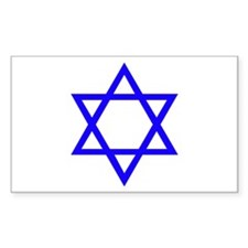 Blue Star of David Rectangle Decal
