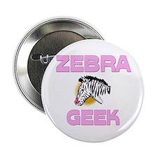 """Zebra Geek 2.25"""" Button"""