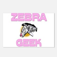 Zebra Geek Postcards (Package of 8)