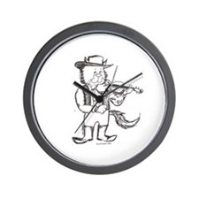 CatoonsT Fiddle Cat Wall Clock