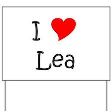 Cute I love lea Yard Sign