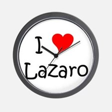 Cute I heart lazaro Wall Clock