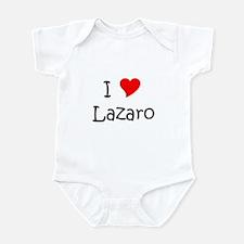 Cute I heart lazaro Infant Bodysuit