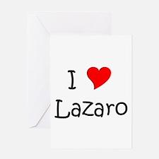 Cute I love lazaro Greeting Card
