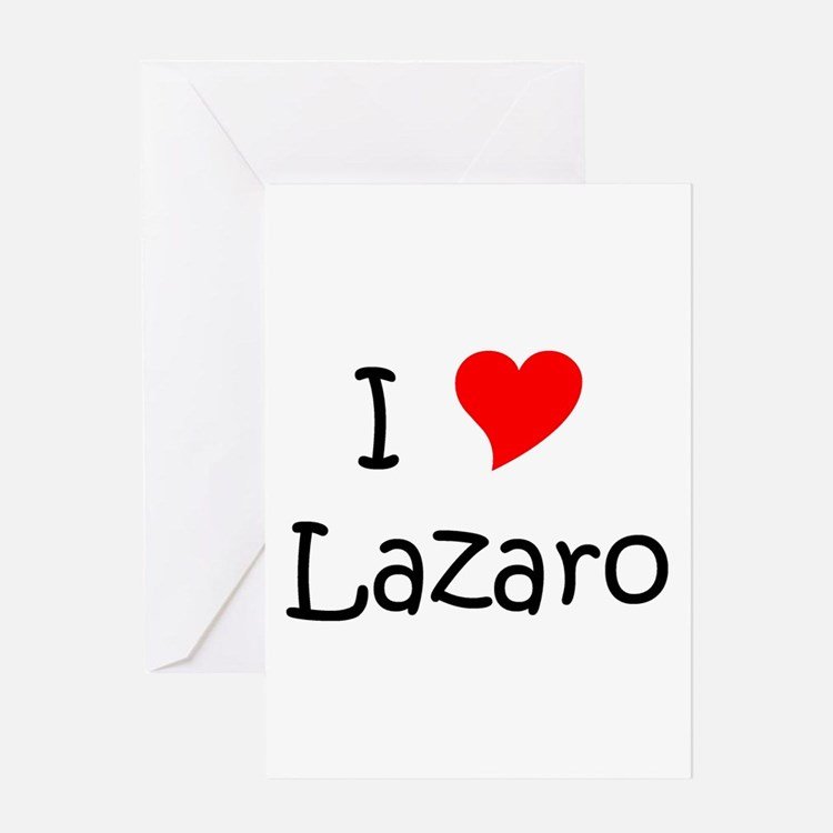 Cute I heart lazaro Greeting Card