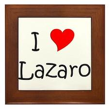 Cute I heart lazaro Framed Tile