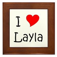 Cute Layla Framed Tile