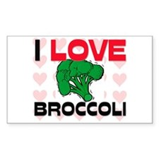 I Love Broccoli Rectangle Decal