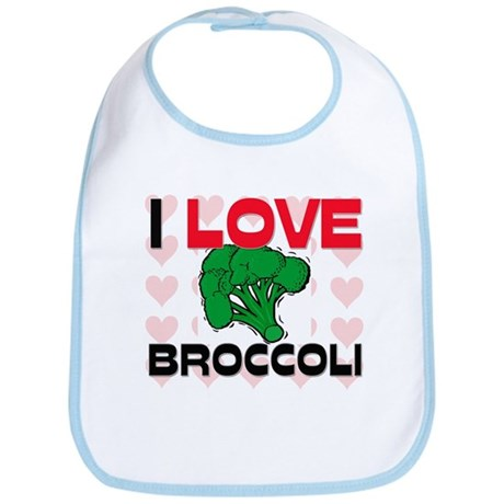 I Love Broccoli Bib