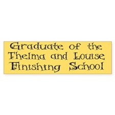 Thelma and Louise Bumper Car Sticker