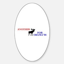 Moose for Obama '08 Oval Decal