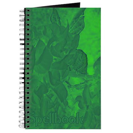 Blue Green Abstract Flower Spellbook