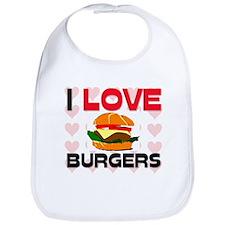 I Love Burgers Bib