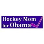 Hockey Mom for Obama bumper sticker