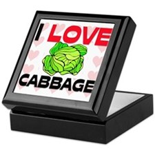 I Love Cabbage Keepsake Box