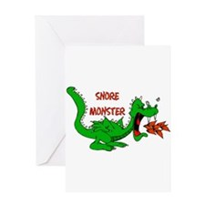 Snore Monster Greeting Card