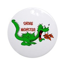 Snore Monster Ornament (Round)